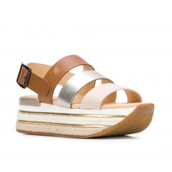 hogan promotions sandales Sandales Maxi H222ELIA MAXI 2 - CUIR - NUDE, OR ET