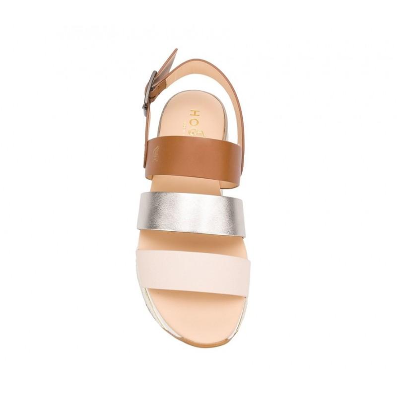 hogan sandales Sandales Maxi H222ELIA MAXI 2 - CUIR - NUDE, OR ET
