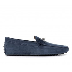 tod's promotions mocassins Mocassins gommino double tGOMME T2 - NUBUCK - BLEU