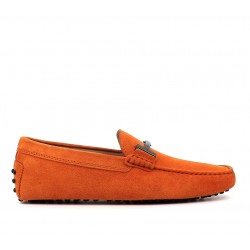 tod's nouveautés mocassins gommino double tGOMME T - NUBUCK - ORANGE