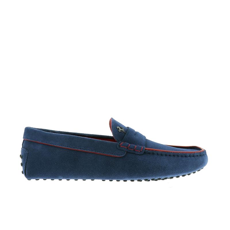tod's mocassins et slippers Mocassins Gommino Tod's for FerrariGOMMINI FERRARI - NUBUCK - BLEU