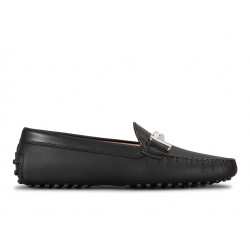 tod's mocassins & slippers Mocassins Gommino Double TTODTIE - CUIR - NOIR