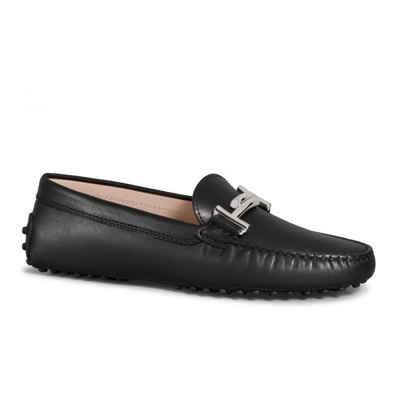 tod's mocassins & slippers Mocassins Gommino Double TTODTIE - CUIR - NOIR