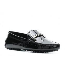 tod's mocassins & slippers Mocassins Gommino Double TTODTIE - CUIR VERNI. - NOIR