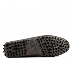 tod's mocassins & slippers Mocassins Gommino Double TTODTIE - CUIR IRISÉ - ARGENT