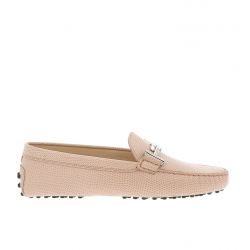 tod's mocassins & slippers Mocassins Gommino Double TTODTIE - CUIR IMPRIMÉ - ROSE ET