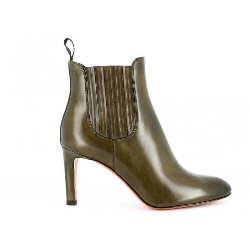 Santoni - Boots & Low Boots - Mosca - Cuir Kaki
