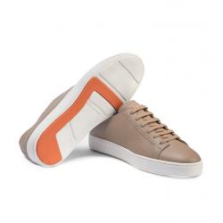 santoni nouveautés sneakers SneakersCLINE - CUIR GRAINÉ - BEIGE