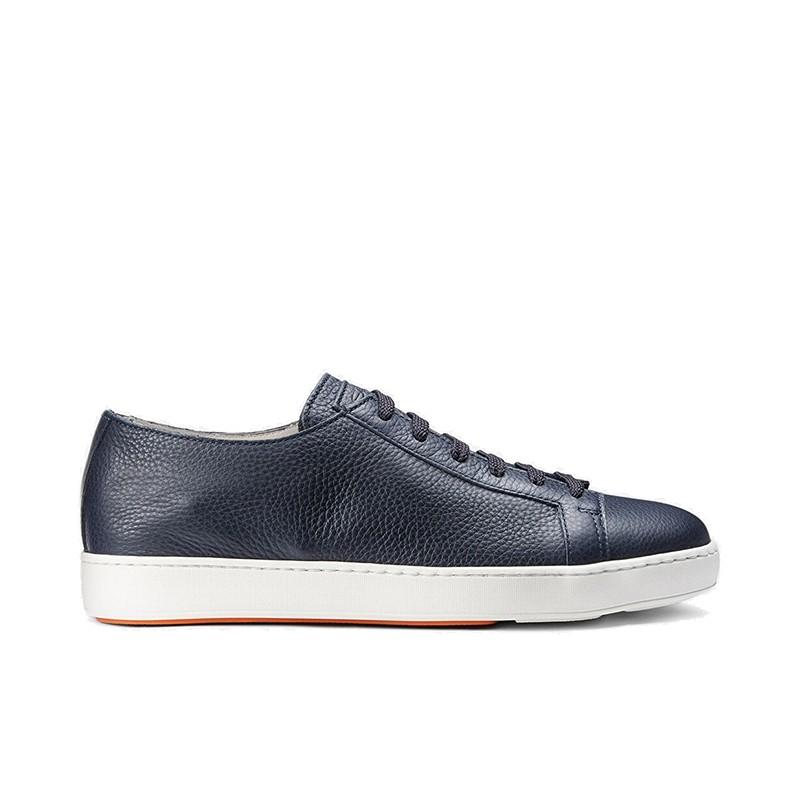 santoni sneakers Sneakers ClineCLINE - CUIR GRAINÉ - MARINE (ST