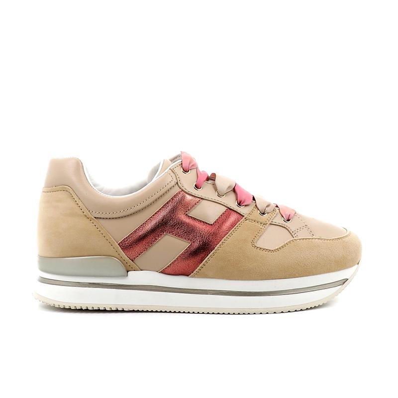 hogan sneakers Sneakers H222ELIUM 2 - NUBUCK ET CUIR - BEIGE