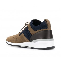 tod's promotions sneakers SneakersRUN NEW - NUBUCK ET TOILE - TAUP