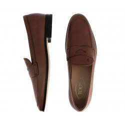 tod's mocassins et slippers MocassinsPEMOC - CUIR PATINÉ - MARRON