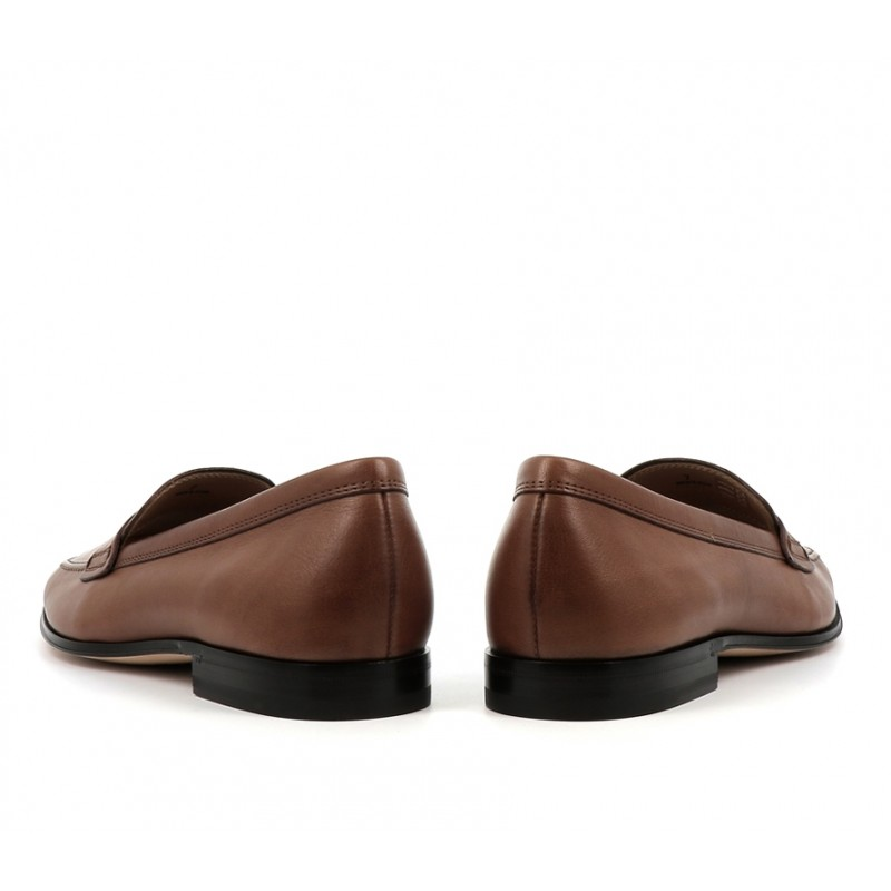 tod's mocassins et slippers MocassinsPEMOC - CUIR PATINÉ - MARRON