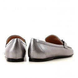 tod's mocassins & slippers Mocassins Double TTODTIE LOAFER3 - CUIR IRISÉ - AR