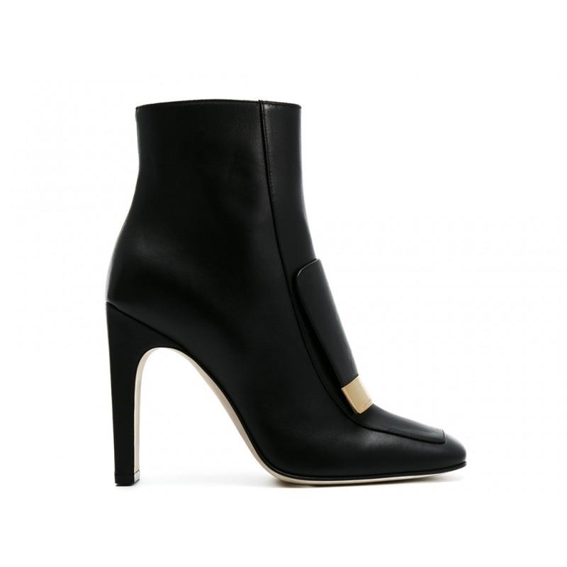 sergio rossi promotions bottines Boots SR One à talon 100 mmSR 1 BOOTS T10 - CUIR - NOIR