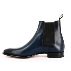 santoni boots et bottillons Boots AnthonyANTHO - CUIR PATINÉ - BLEU