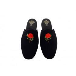 church's nouveautés chaussures d'intérieur Pantoufles ArielARIEL - VELOURS - NOIR À MOTIF F