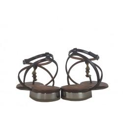 giorgio armani promotions sandales SandalesAR NU PIED CORNE - CUIR - MARRON