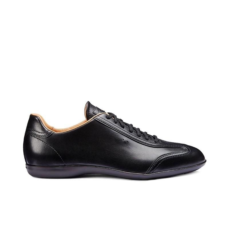 santoni nouveautés sneakers Sneaker AnversANVERS - CUIR - NOIR (2)