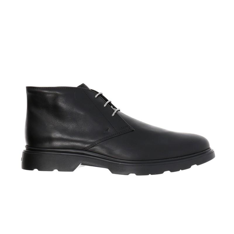 hogan boots et bottillons Bottines à lacetsBARBO 2 - CUIR - NOIR