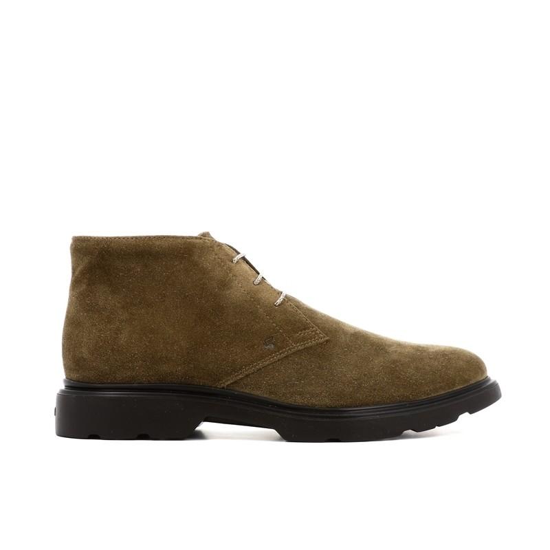 hogan nouveautés boots et bottillons Bottines à lacetsBARBO 2 - NUBUCK - TAUPE
