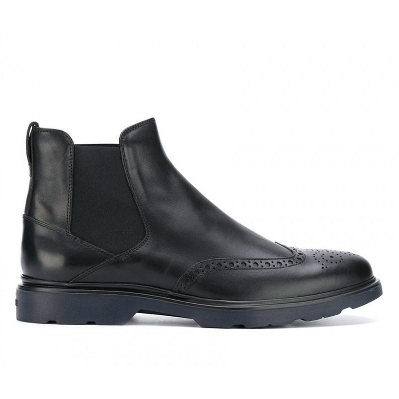 hogan promotions boots et bottillons BootsBARBOOTS - CUIR - NOIR