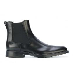 tod's promotions boots et bottillons BootsBASTON 2 - CUIR - NOIR