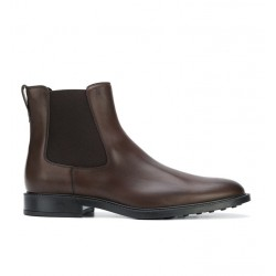 tod's promotions boots et bottillons BootsBASTON 2 - CUIR - MARRON