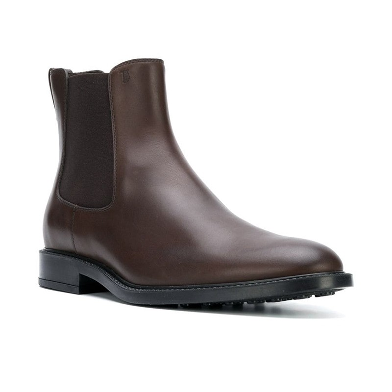 tod's boots et bottillons BootsBASTON 2 - CUIR - MARRON