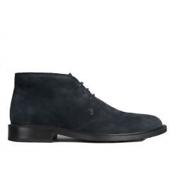 tod's boots et bottillons BottinesBASTILL 2 - NUBUCK - BLEU