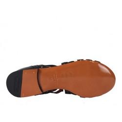 santoni promotions sandales Sandales BrigitteBRIGITTE - CUIR - NOIR