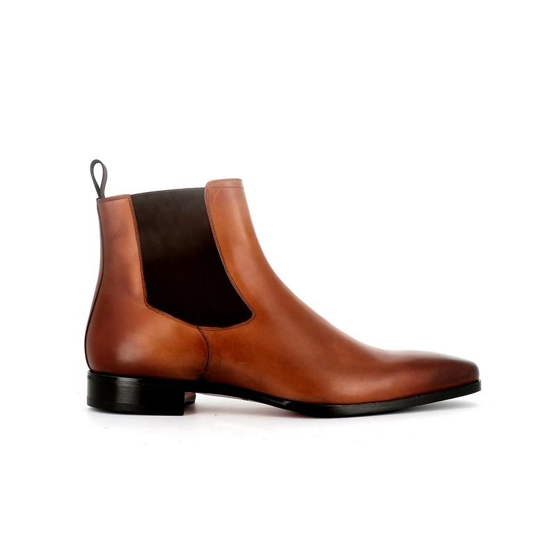 santoni promotions boots et bottillons Boots BorisBOLDOR - CUIR - GOLD
