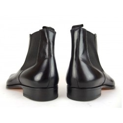 santoni promotions boots et bottillons Boots BorisBOLDOR - CUIR - NOIR