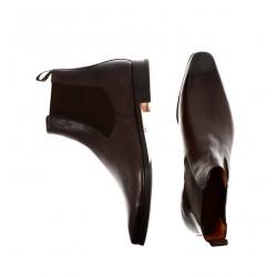 santoni promotions boots et bottillons Boots BorisBOLDOR - CUIR GRAINÉ - CHOCOLAT