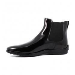 tod's promotions boots et bottillons BootsBEATLES 2 - CUIR GLACÉ - NOIR