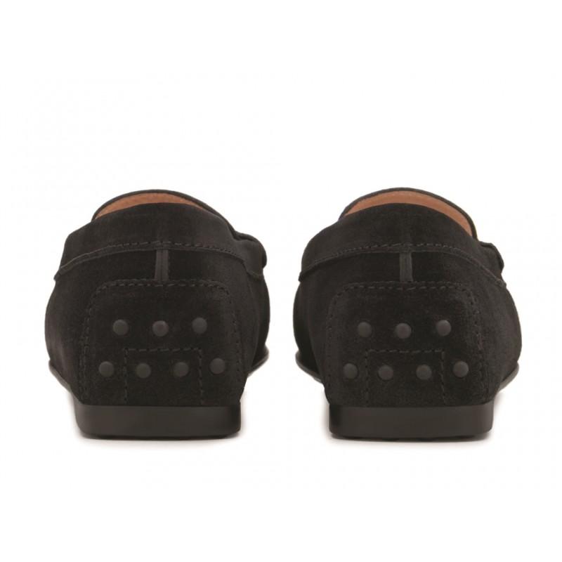 tod's mocassins & slippers Mocassins City GomminoBROKA - NUBUCK - NOIR