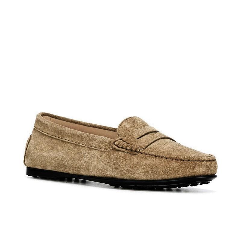 tod's mocassins & slippers Mocassins City GomminoBROKA - NUBUCK - TABAC
