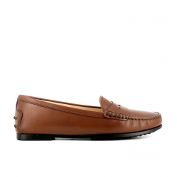 tod's mocassins & slippers Mocassins City GomminoBROKA - CUIR - CACAO