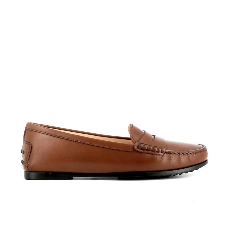 tod's mocassins et slippers Mocassins City GomminoBROKA - CUIR - CACAO