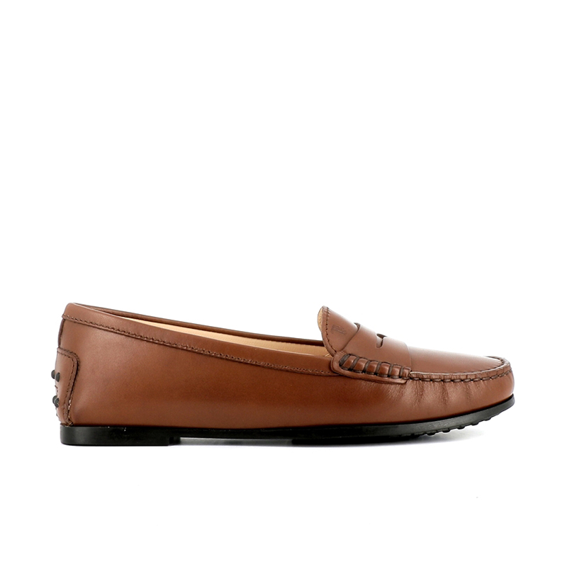tod's mocassins & slippers Mocassins City GomminoBROKA - CUIR - CACAO