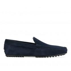 tod's mocassins et slippers Mocassins City GomminoBROKIS - NUBUCK - MARINE
