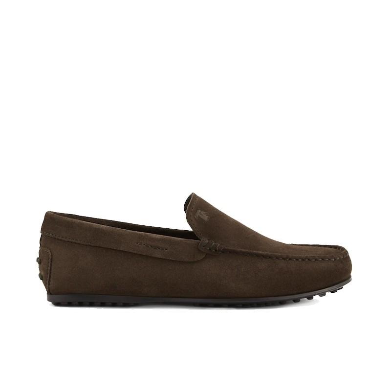 tod's mocassins et slippers Mocassins City GomminoBROKIS - NUBUCK - MARRON