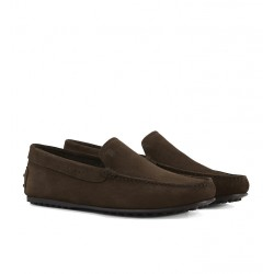 tod's mocassins et slippers Mocassins City GomminoBROKIS - NUBUCK - MARRON