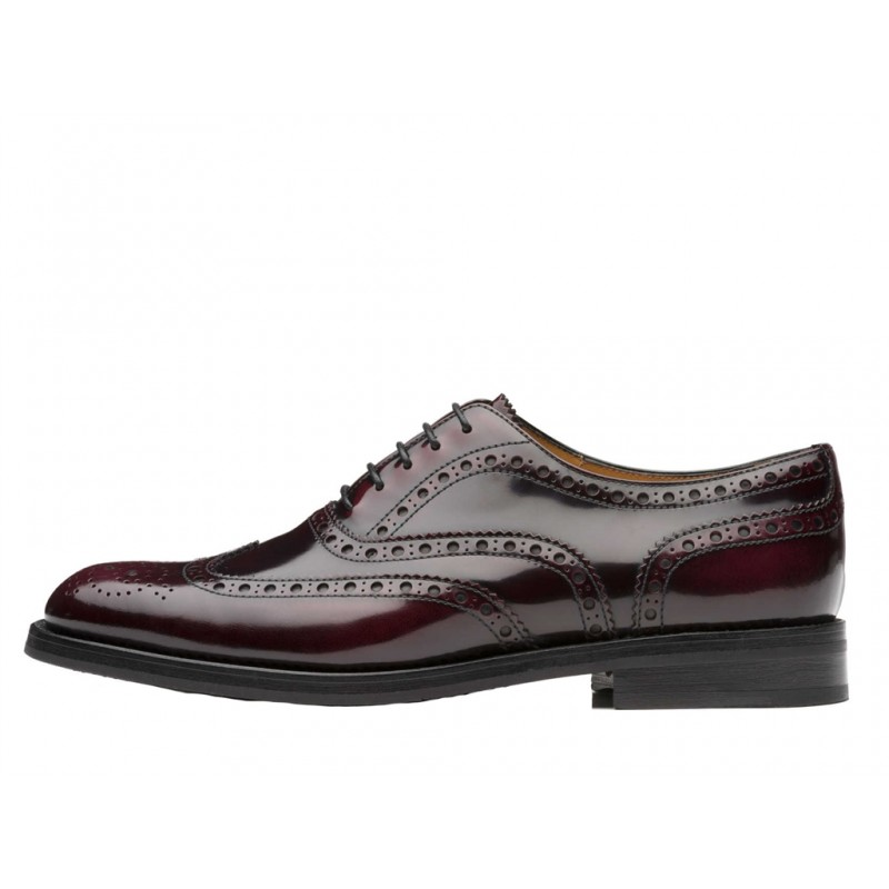 church's derbies & richelieux Richelieux BurwoodBURWOOD F - CUIR - BORDEAUX