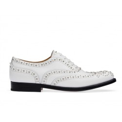 church's promotions derbies et richelieux Richelieux Burwood metBURWOOD F CLOUTÉ - CUIR - BLANC