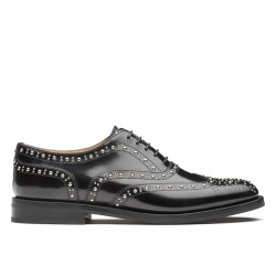 church's derbies & richelieux Richelieux Burwood metBURWOOD F CLOUTÉ - CUIR - BLACK