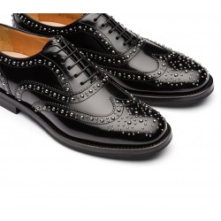 church's promotions derbies et richelieux Richelieux Burwood metBURWOOD F CLOUTÉ - CUIR - BLACK