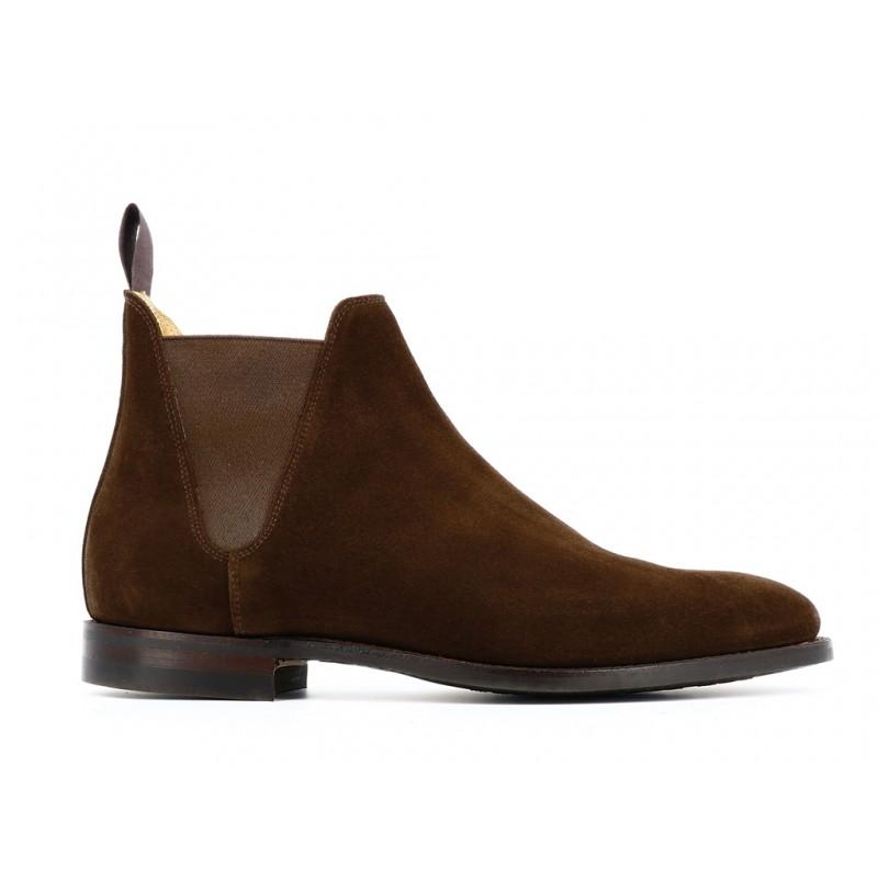crockett & jones promotions boots et bottillons Boots Chelsea VIIIC&J CHELSEA 8 - SUEDE - DARK BRO