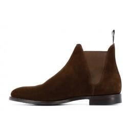 crockett & jones boots et bottillons Boots Chelsea VIIIC&J CHELSEA 8 - SUEDE - DARK BRO