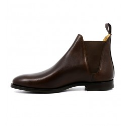 crockett & jones boots et bottillons Boots Chelsea VIIIC&J CHELSEA 8 - CUIR PEBBLE GRAI
